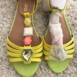 Neon jeweled Sandals